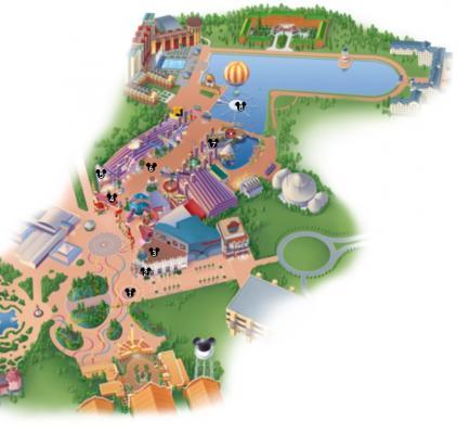 Carte disney village